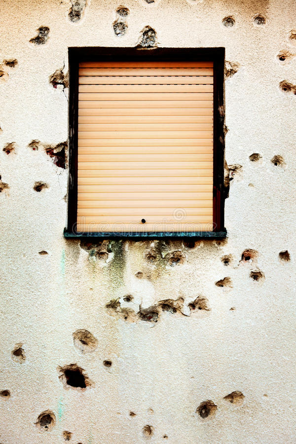 Download Bullet Holes In A House Facade Stock Photo - Image: 26930738