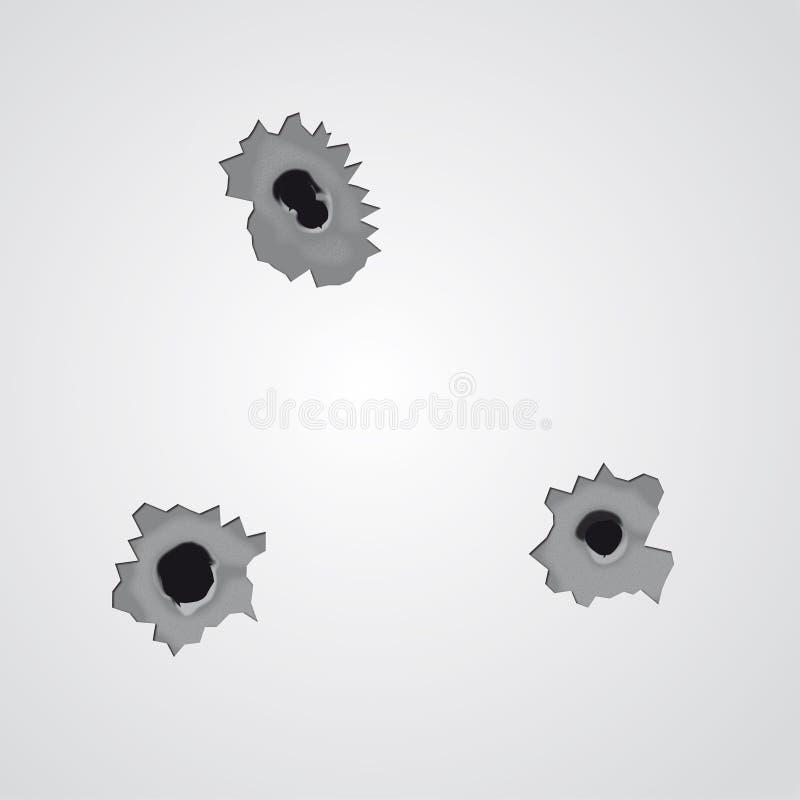 Free Bullet Holes (vector) Stock Photos - 7853833