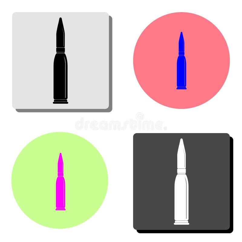bullet Icono plano del vector libre illustration
