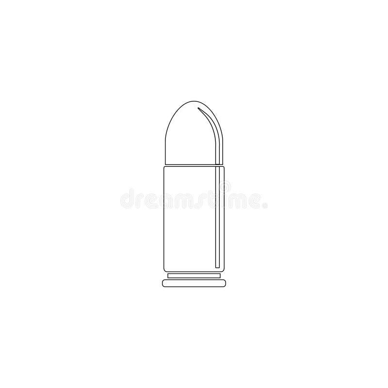 bullet Icono plano del vector stock de ilustración