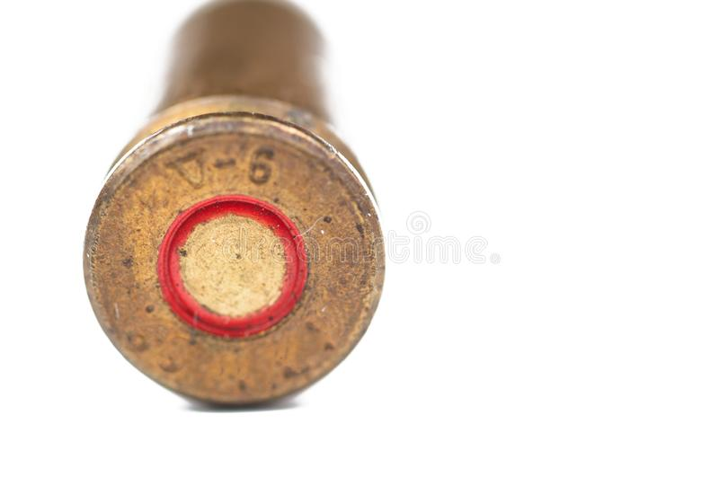 Bullet isolated on white background.Copy space royalty free stock photos
