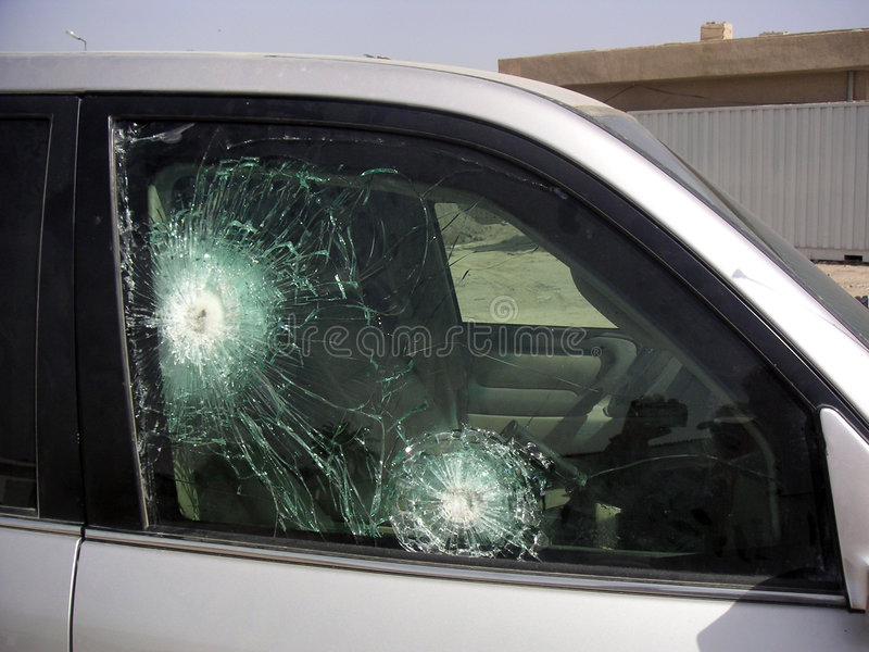 Bullet Proof Glass Armored Car Stock Photo