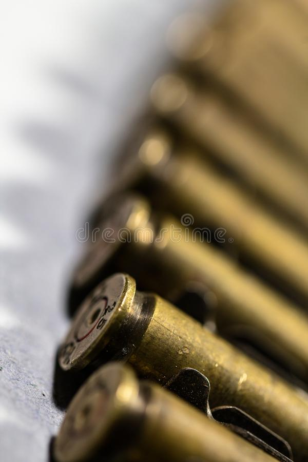 Bullet weapon close up detail stock images