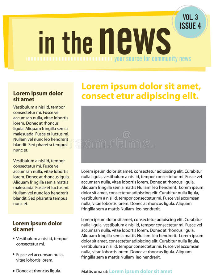 bulletin illustration libre de droits