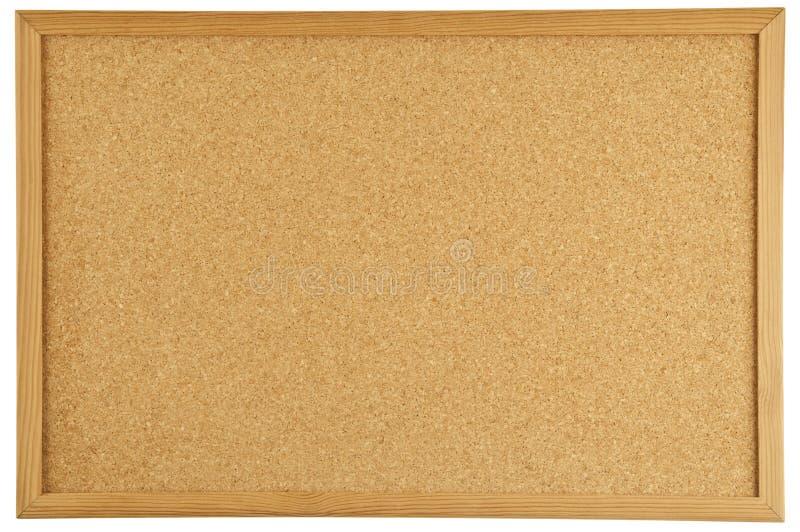 Bulletin board. A blank cork message bulletin board