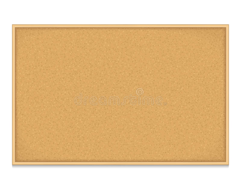Bulletin Board. Empty bulletin board on white background royalty free illustration