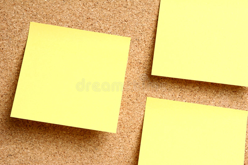 Download Bulletin Board Notes stock photo. Image of background - 4509268