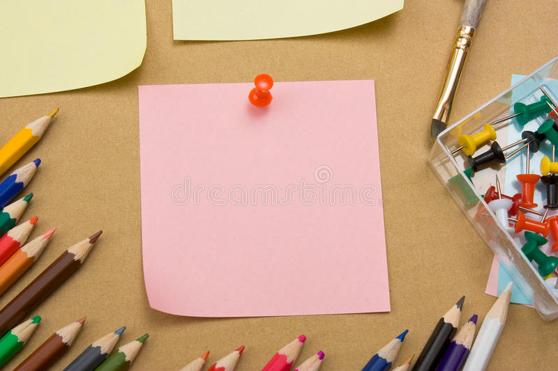 Download Bulletin Board With A Sheet Stock Photo - Image: 16421602