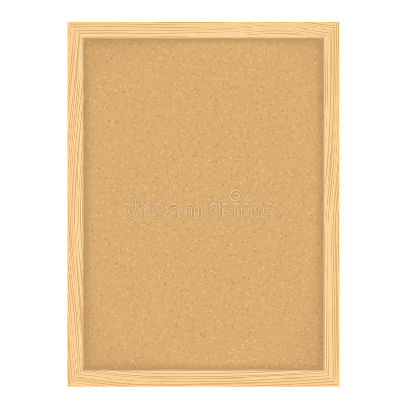 Bulletin Board. Vertical bulletin board on white background royalty free illustration