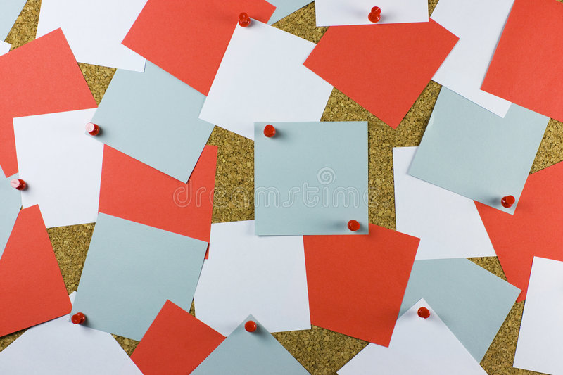 Bulletin cork board stock photo