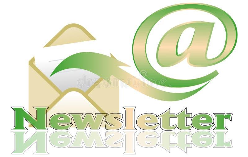 Bulletin d'information illustration stock