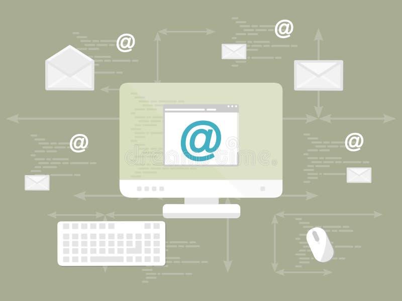 Bulletin d'information d'email illustration libre de droits