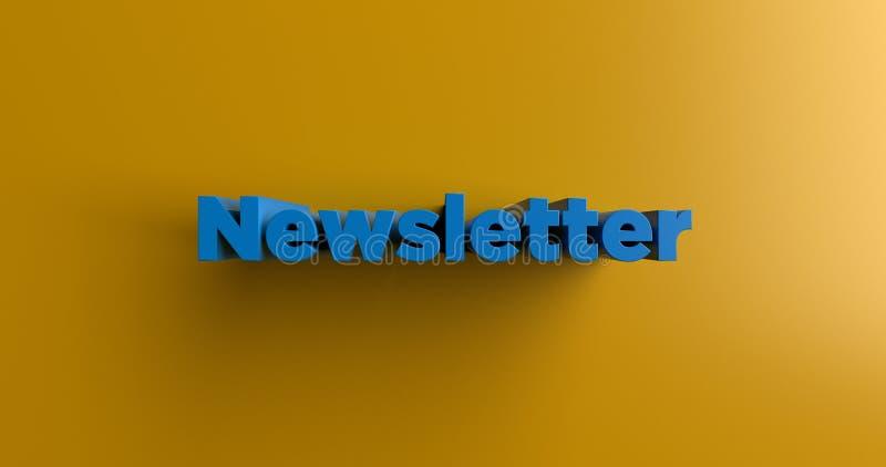 Bulletin d'information - 3D a rendu l'illustration colorée de titre illustration stock
