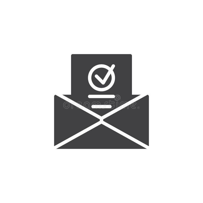 Bulletin d'information dans le vecteur d'icône d'enveloppe illustration libre de droits