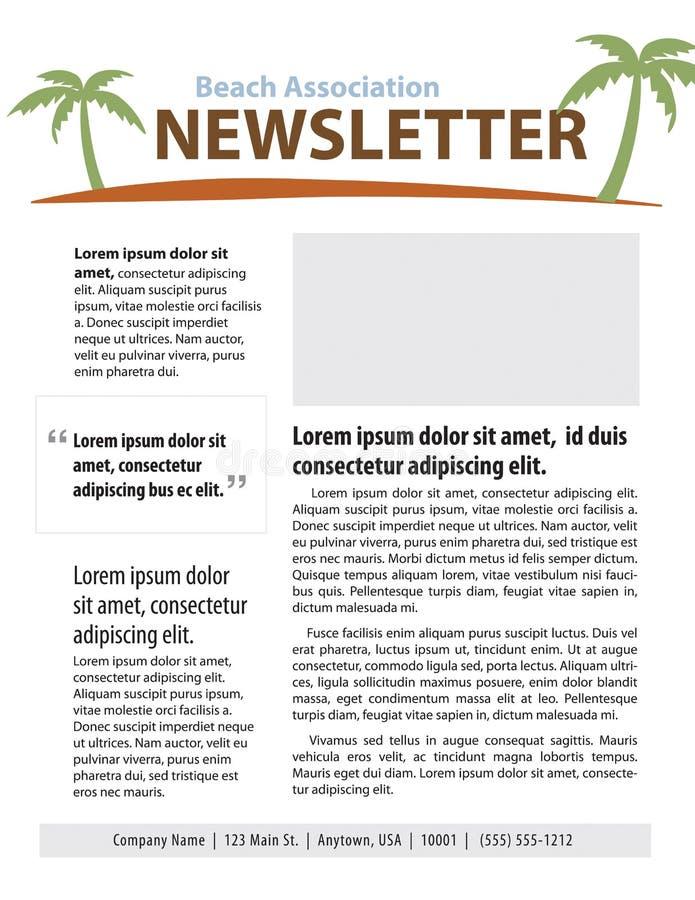 Bulletin d'information de plage illustration de vecteur