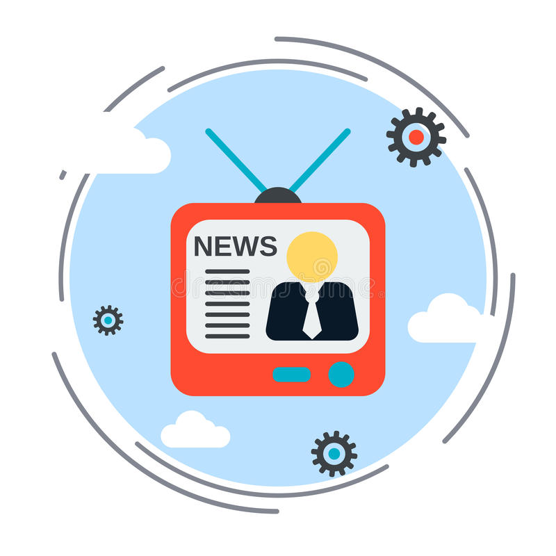 Bulletin d'informations, l'information, illustration de radiodiffusion illustration de vecteur