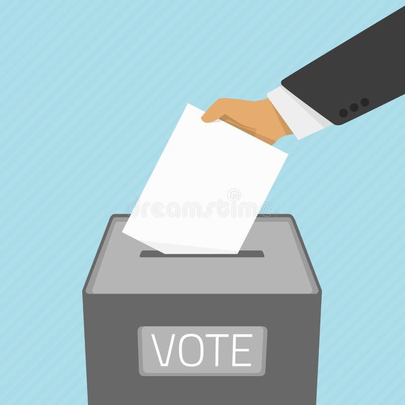 Bulletin de vote dans l'urne  illustration libre de droits
