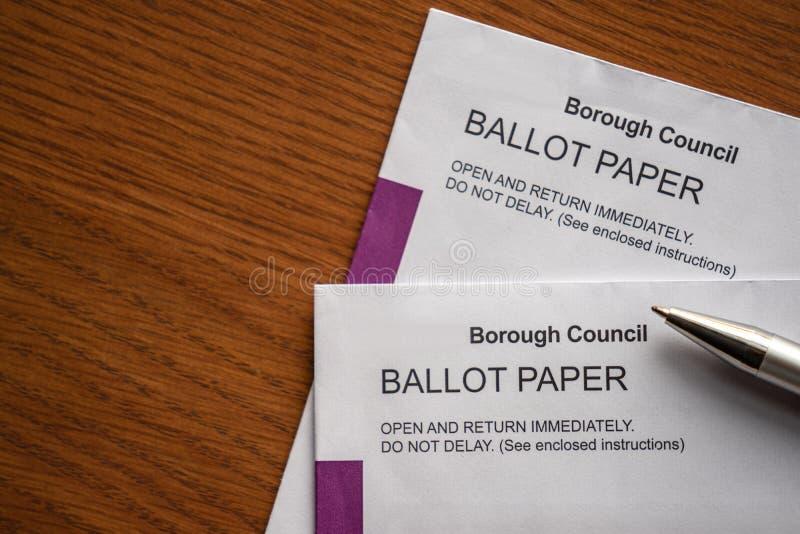Bulletin de vote Enveloppe postale photographie stock libre de droits