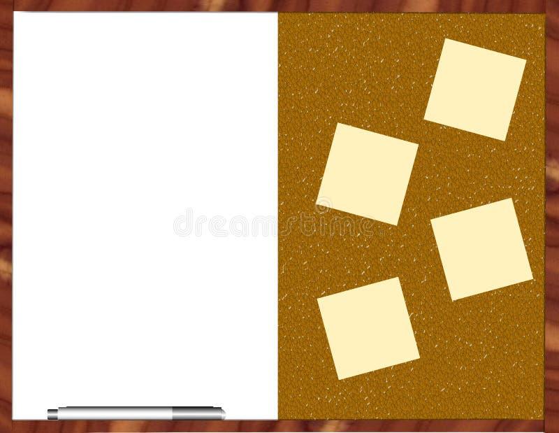 Bulletin/panneau blanc image libre de droits