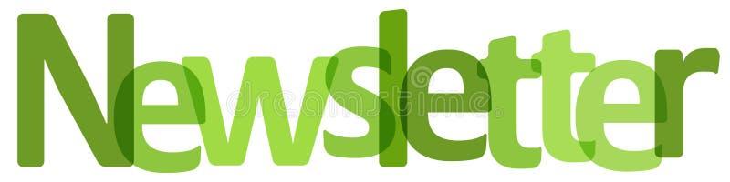 Bulletinbanner groen op een witte achtergrond stock illustratie