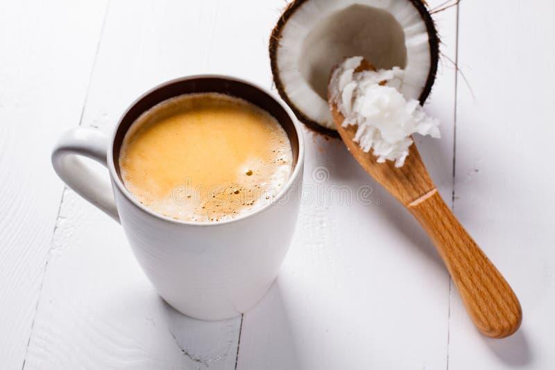 Bulletproof coffee. stock images