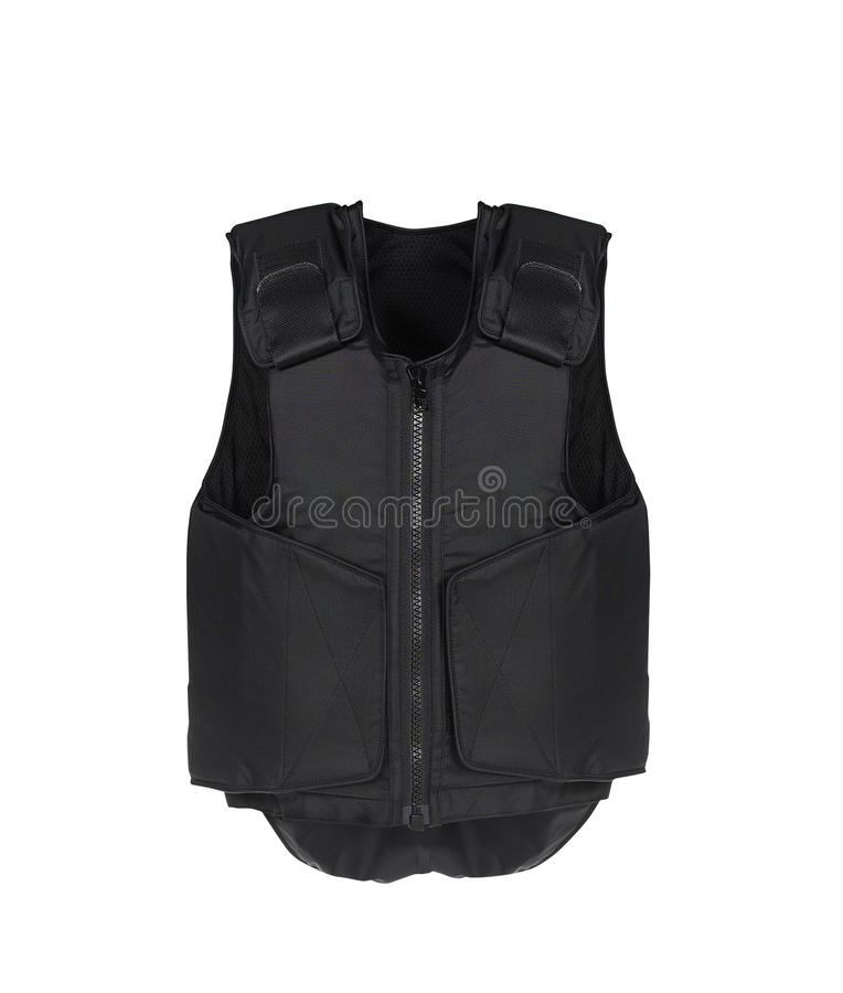 Bulletproof vest. Isolated on white royalty free stock image
