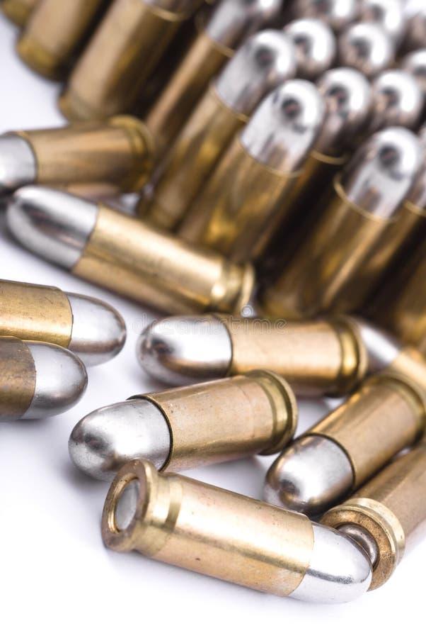 Bullets. World War II 6.35 caliber bullets royalty free stock image