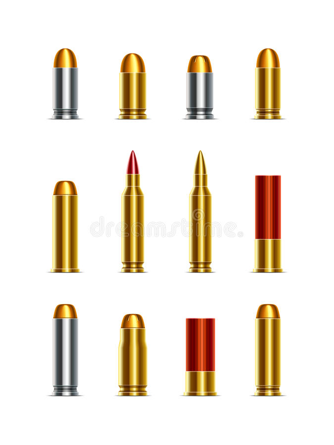 Download Bullets stock vector. Image of drawing, cartridge, magnum - 38048048