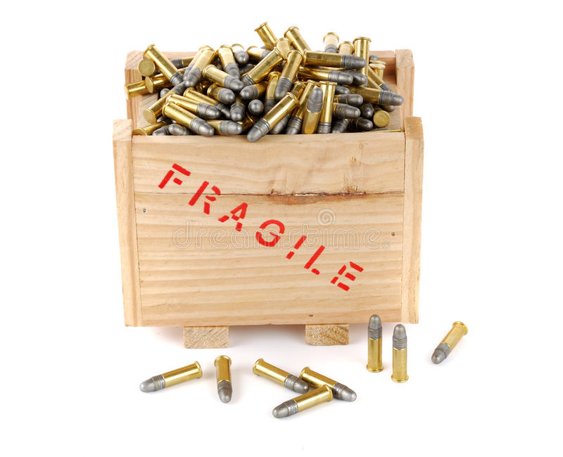 Download Bullets in a box stock image. Image of army, auto, security - 25768709