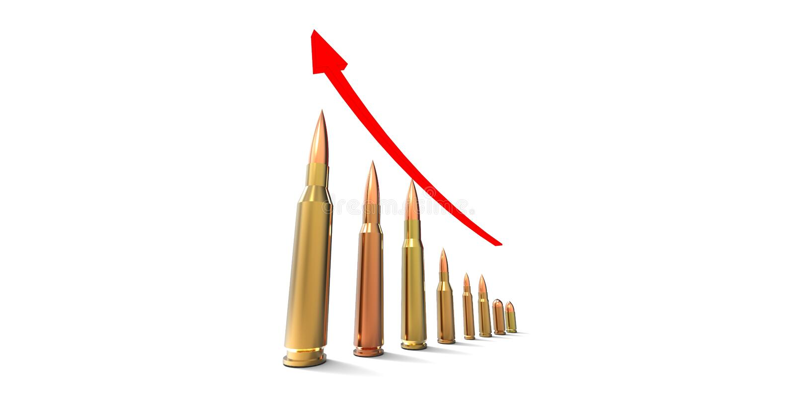 Bullets chart royalty free illustration