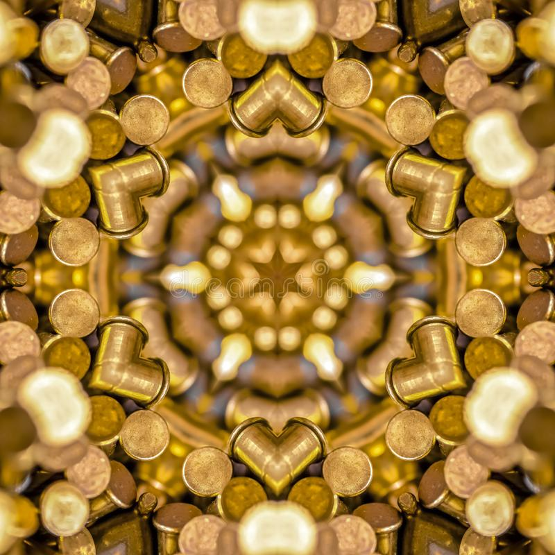 Bullets made into a star shaped fractal ball stock image