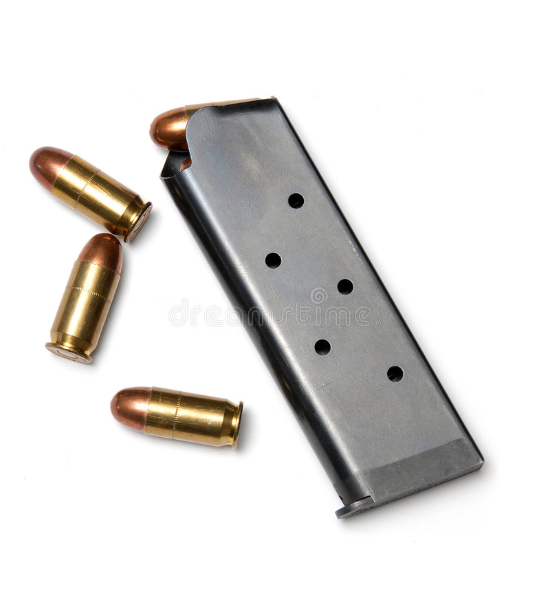 Bullets and magazine royalty free stock image
