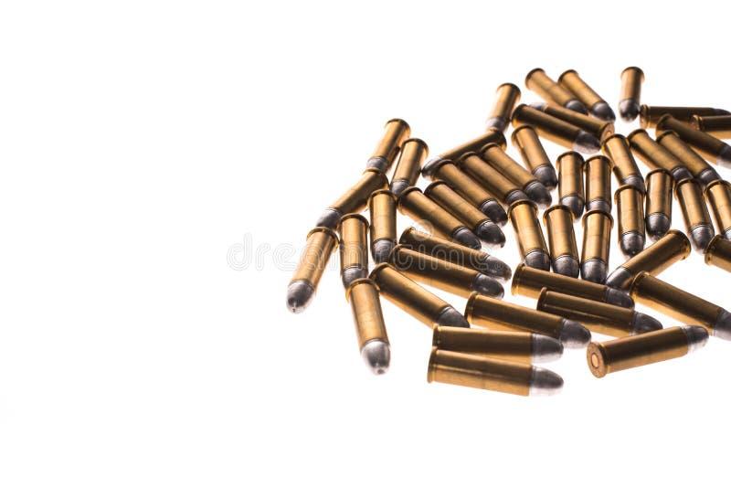 bullets 38mm sur le fond blanc photographie stock libre de droits