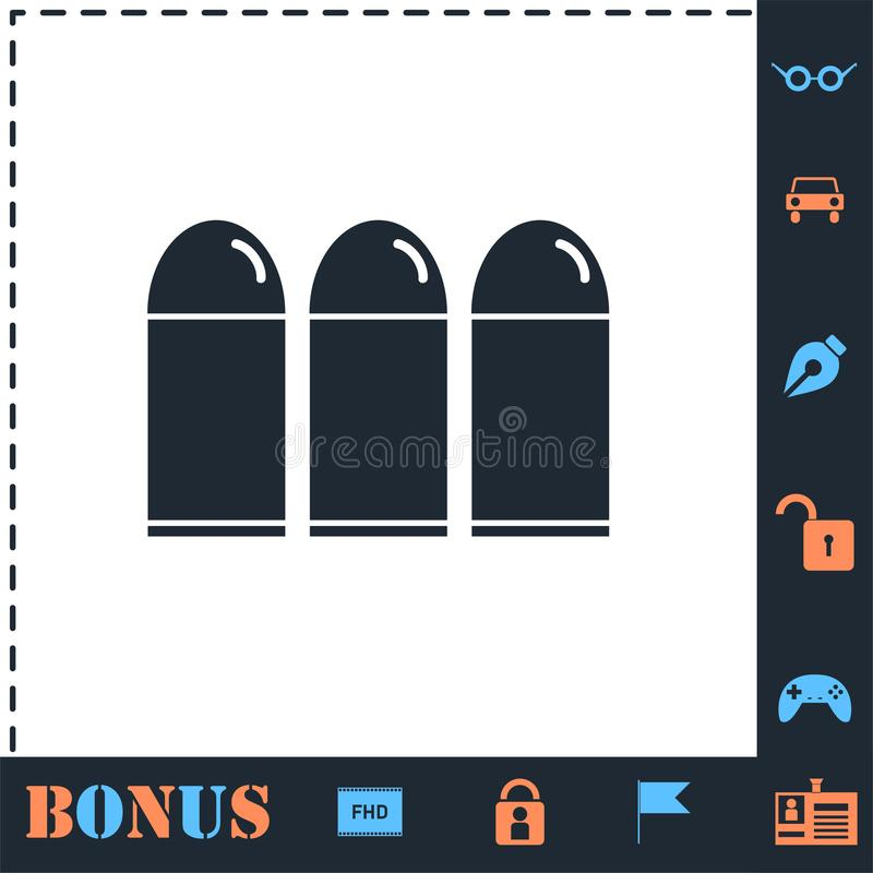 Bullets icon flat royalty free illustration