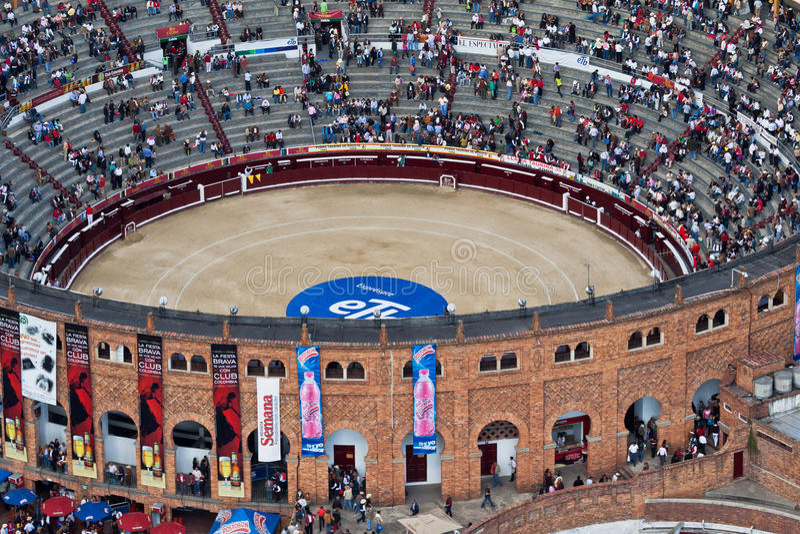 Bullfight Arena in Bogota Colombia stock photo