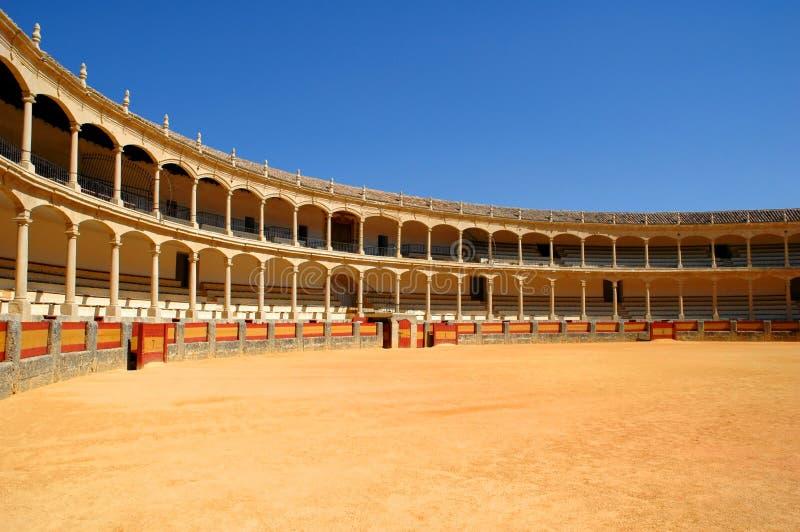 Bullfightarena in Spanien lizenzfreie stockfotos