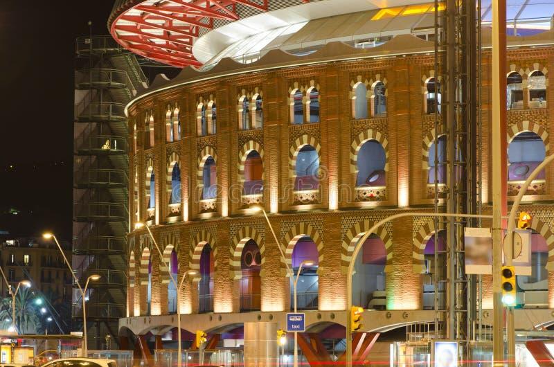 Bullfighter-Arena in Barcelona lizenzfreie stockfotos