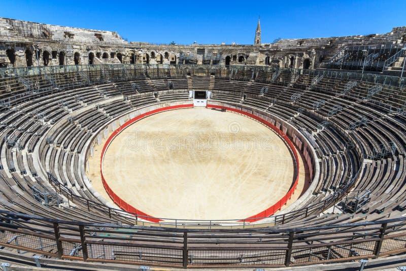 Bullfighting-Arena Nimes lizenzfreies stockfoto