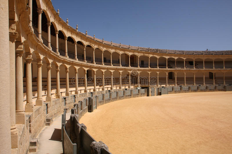 bullfighting pierścionek fotografia stock