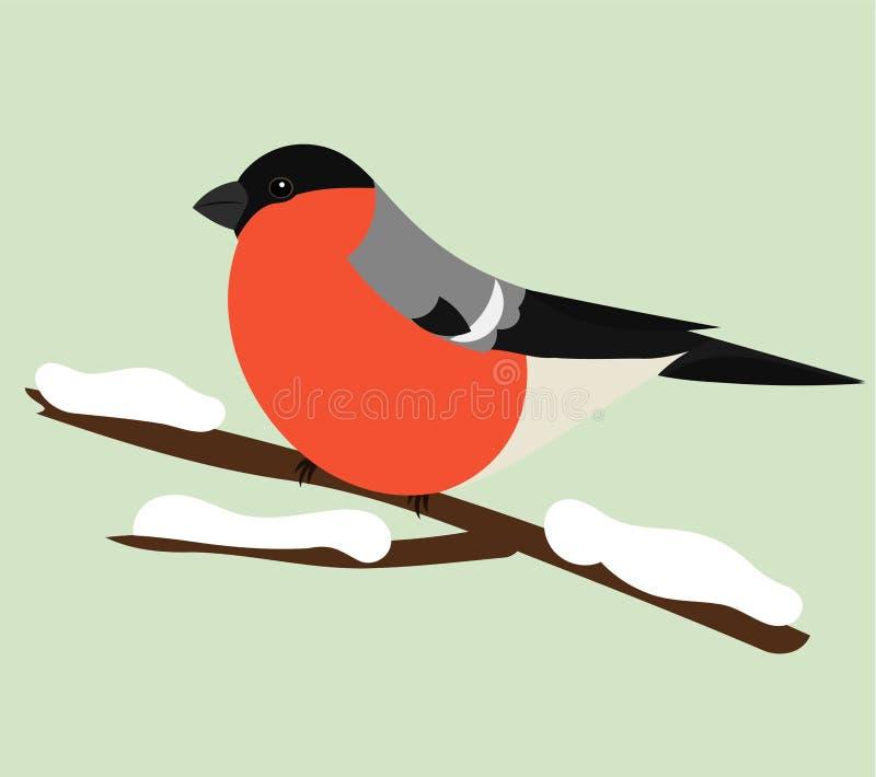 Bullfinch illustration de vecteur