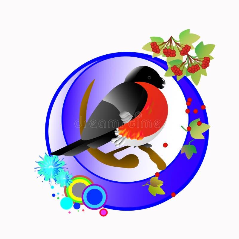 bullfinch ilustração do vetor