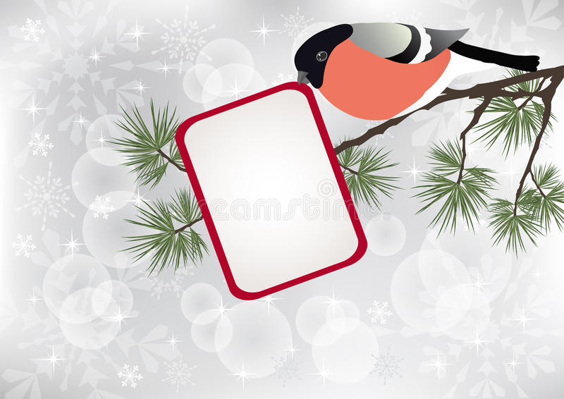 Download Bullfinch on the branch. stock vector. Image of cute - 17440626