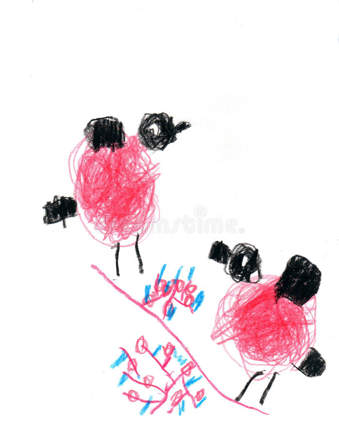 bullfinches απεικόνιση αποθεμάτων