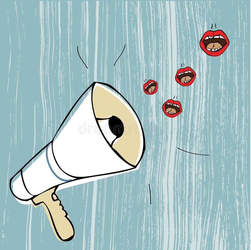 bullhorn stock illustrationer