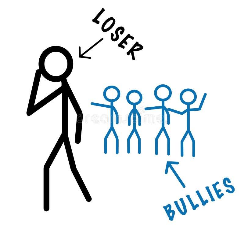 Bullies contra o vencido ilustração royalty free