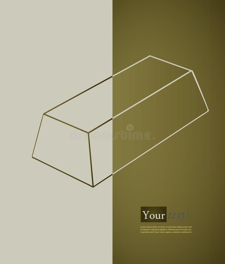 Bullion. Card with bullion, vector with depth vector illustration