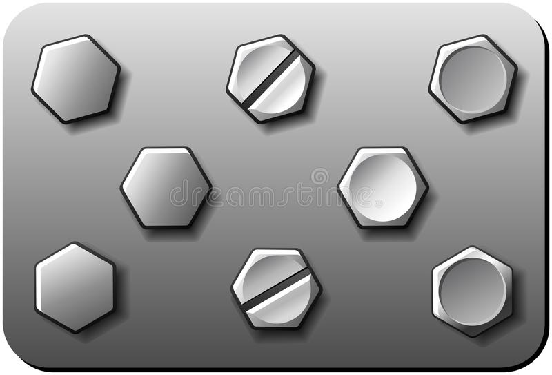 Bulloni illustrazione vettoriale