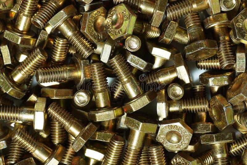 Bulloni dell'acciaio legato fotografie stock