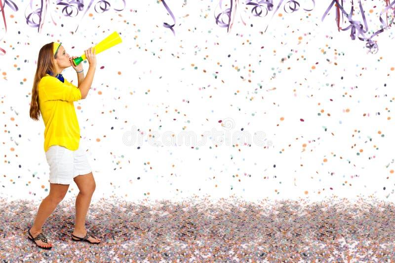 Bullrig karnevalpartitid arkivfoto