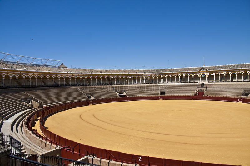 Bullring. This is a typical bullring of Spain. Bullfighting (also known as tauromachia or tauromachy) Is a traditional spectacle of Spain, Portugal, southern royalty free stock images
